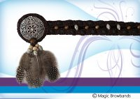 New Indian Browband - Feathers and Beads