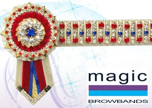 cream, red and royal blue threaded superbling