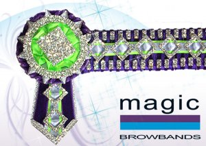 Purple, lime green and silver tiny diamonds
