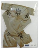 Gold with Chocolate Embroidered Taffeta