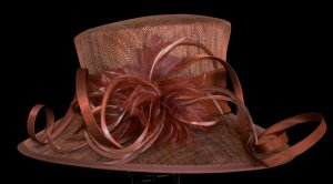 Brown Sinamay Hat