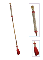 Bamboo cane red with full bling wrap handle