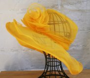 Yellow Organza Hat