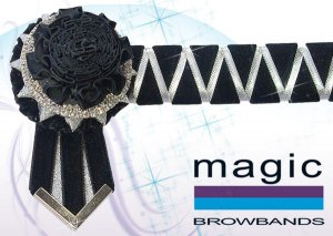 Black carnations with black and silver sharkstooth