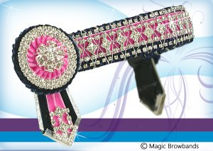 Deluxe navy and hot pink diamond cross chain, Pony