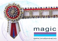White, red and royal blue deluxe open large square superbling WB