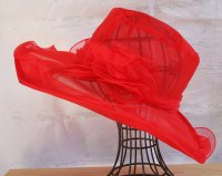 Red Organza Hat