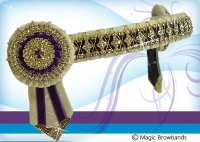 Cream and purple diamond cross chain, large cob size