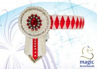 Cob Red/White Browband