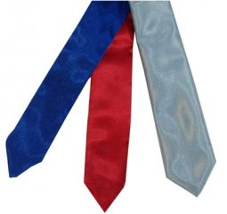 Self- tie show tie, size kids - baby blue satin