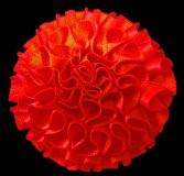 Pre made Boxpleat Satin Carnations, 50mm Pair