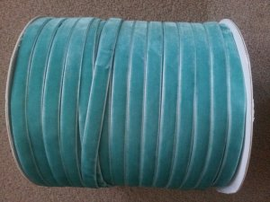 Full roll (200 yards/182 metres) of 7mm velvet ribbon, colour is