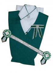Dark Emerald green, white and silver superbling set