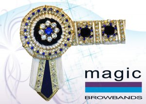 White, navy and royal small circle superbling