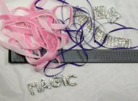 DIY Kit for Bling name browband, any colour, letters inc