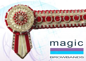 Red and cream deluxe teeny ring superbling