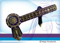 Purple satin diamond cross chain