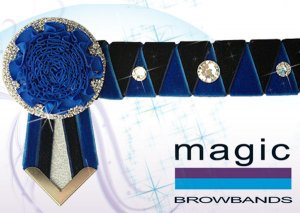 Navy & royal blue sharkstooth w/ large crystal features, royal