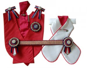 Red, navy, white and silver superbling leadline set