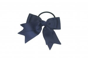 Navy blue on navy blue ribbon single with elastic band