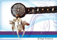 New Indian Browbands - Feathers, Metal, Beads and Leather