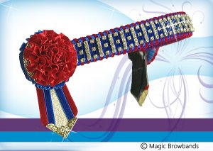Red and royal blue small square checkerbling with carnation