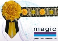 Black & gold bling roses & bling chain w/ carnation end, LHack