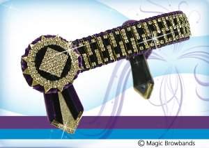 Purple, black and gold gap chain