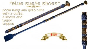 """Blue Suede Shoes"" Cane"
