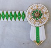 Pony White/Green Browband