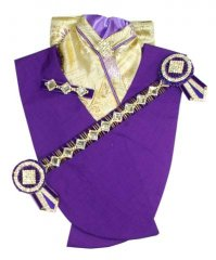 Purple and gold diamond deluxe bling set