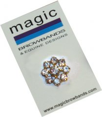 circle flower crystal centre stock pin