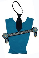 Aqua, navy and gold diamond superbling set