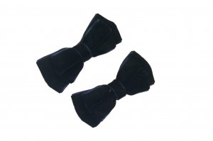 Velvet navy blue hairbow pair hairbow