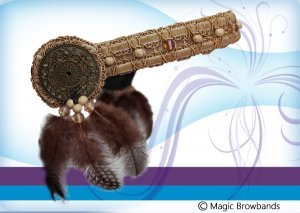 Dreamcatcher Browband - Fawn, feathers and beads