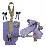 Lilac, navy and gold superbling leadline set