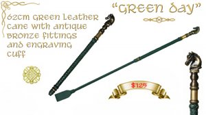 """Green Day"" Cane"