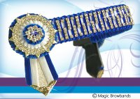 Royal blue and white gap chain, Large pony