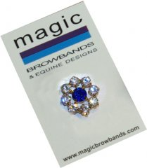 Circle flower royal centre stock pin, 23mm