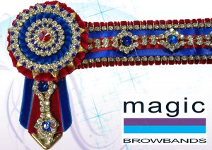 Red and royal blue with gold diamond chain