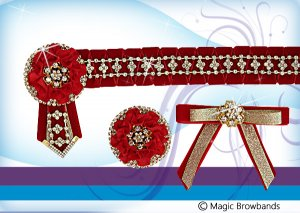 Red Nested Carnation Set with lapel and ribbon