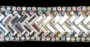 "Rhinestone Mirror Tape ""Fishtail"""