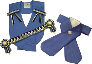 Cornflower blue, navy and gold leadline set