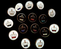 Buttons, Crown Enamelled
