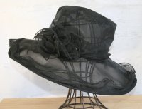 Black Organza Hat