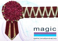 Burgundy and gold sharkstooth with carnation ends